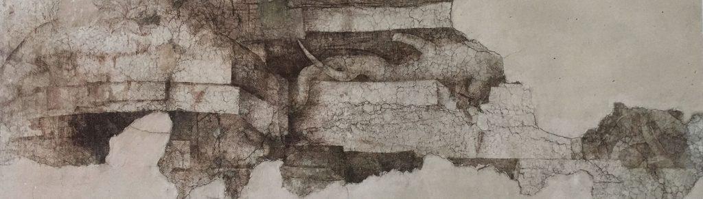 Sala delle Asse. Leonardo da Vinci's Monochrome, detail